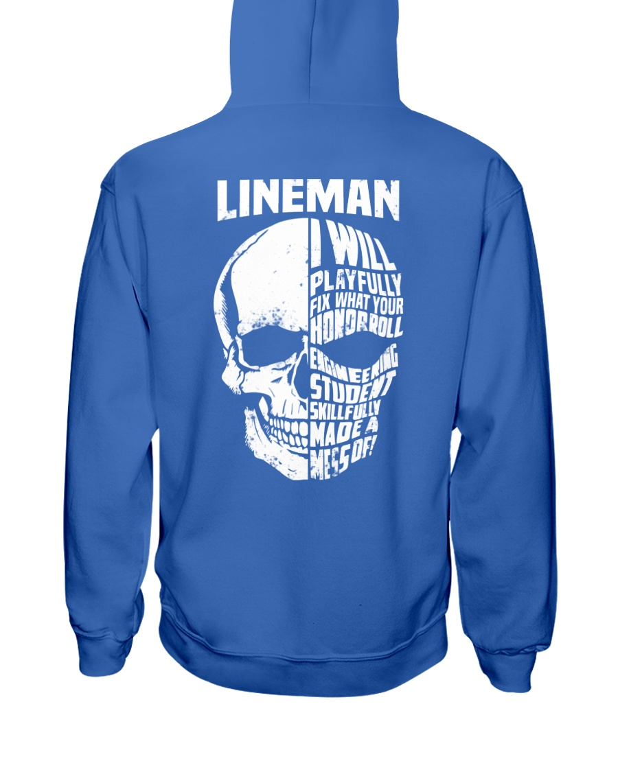 Lineman Skull Hooded Sweatshirt