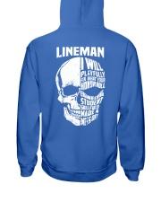 Lineman Skull Hooded Sweatshirt back
