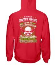 We the willing Concrete Finisher led  Hooded Sweatshirt back