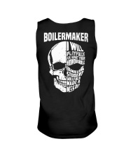 Boilermaker Skull Unisex Tank back