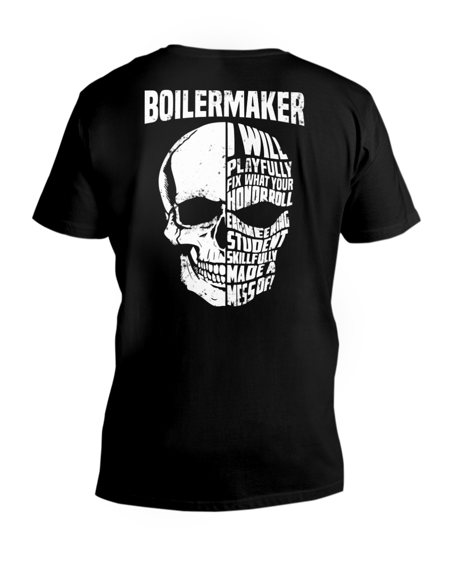 Boilermaker Skull V-Neck T-Shirt