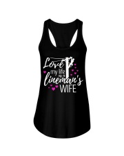 Love my life as a lineman's wife Ladies Flowy Tank thumbnail