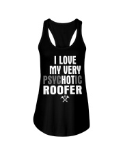 I Love My Very Psychotic Roofer Ladies Flowy Tank thumbnail