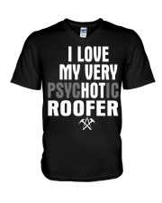 I Love My Very Psychotic Roofer V-Neck T-Shirt thumbnail