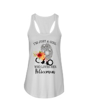 I'm just a girl who loves her policeman Ladies Flowy Tank thumbnail