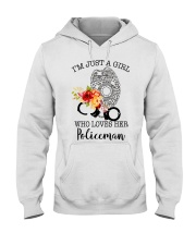 I'm just a girl who loves her policeman Hooded Sweatshirt thumbnail