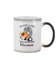 I'm just a girl who loves her policeman Color Changing Mug thumbnail
