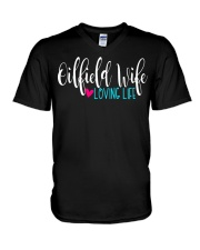 Oilfield Wife loving life V-Neck T-Shirt thumbnail