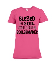 Blessed By God Spoiled by My Boilermaker Premium Fit Ladies Tee front