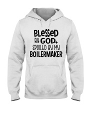 Blessed By God Spoiled by My Boilermaker Hooded Sweatshirt thumbnail