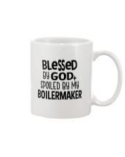 Blessed By God Spoiled by My Boilermaker Mug thumbnail