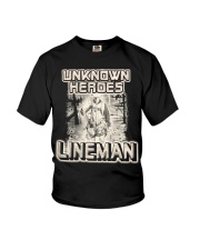 Unknown heroes Lineman Youth T-Shirt thumbnail
