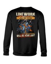 Linework youe first mistake will be your last Crewneck Sweatshirt thumbnail