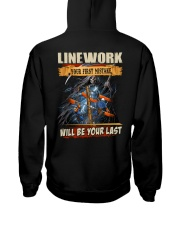 Linework youe first mistake will be your last Hooded Sweatshirt back
