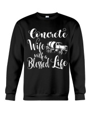 Concrete Wife With a Blessed Life Crewneck Sweatshirt thumbnail