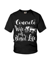 Concrete Wife With a Blessed Life Youth T-Shirt tile