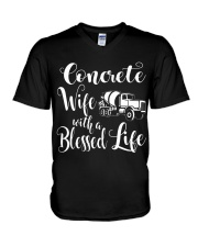 Concrete Wife With a Blessed Life V-Neck T-Shirt thumbnail