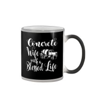 Concrete Wife With a Blessed Life Color Changing Mug thumbnail