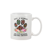 Just a woman who loves Dachshunds and has tattoos Mug thumbnail