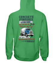 Concrete Finisher If YOu Think You Can Do my Job Hooded Sweatshirt back