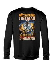 once A Lineman Always A Lineman Crewneck Sweatshirt thumbnail
