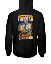 once A Lineman Always A Lineman Hooded Sweatshirt back
