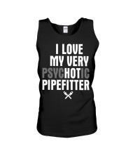 I Love My Very Psychotic Pipefitter Unisex Tank thumbnail
