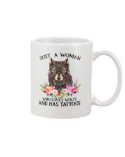 Just a woman who loves Wolfs and has tattoos Mug thumbnail