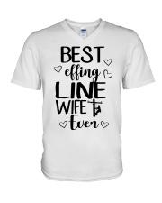 Best Effing Line Wife Ever V-Neck T-Shirt thumbnail
