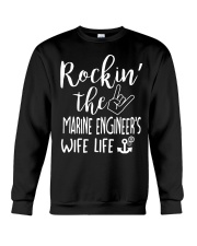 Rockin' the Marine Engineer's Wife Life Crewneck Sweatshirt thumbnail