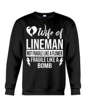 Wife Of Lineman Crewneck Sweatshirt thumbnail