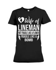 Wife Of Lineman Premium Fit Ladies Tee thumbnail