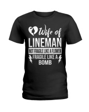 Wife Of Lineman Ladies T-Shirt front