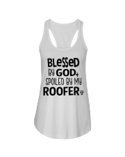 Blessed By God Spoiled by My Roofer Ladies Flowy Tank thumbnail