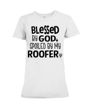 Blessed By God Spoiled by My Roofer Premium Fit Ladies Tee thumbnail
