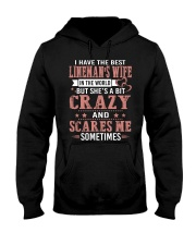 I Have The Best Lineman's wife In The World Hooded Sweatshirt front