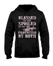 Blessed by God Spoiled By My Roofer Hooded Sweatshirt thumbnail