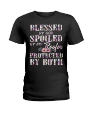 Blessed by God Spoiled By My Roofer Ladies T-Shirt thumbnail