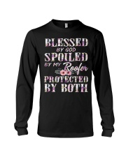 Blessed by God Spoiled By My Roofer Long Sleeve Tee thumbnail