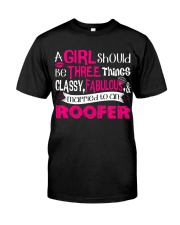 Roofer Girl Classic T-Shirt tile