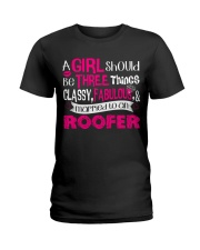 Roofer Girl Ladies T-Shirt thumbnail