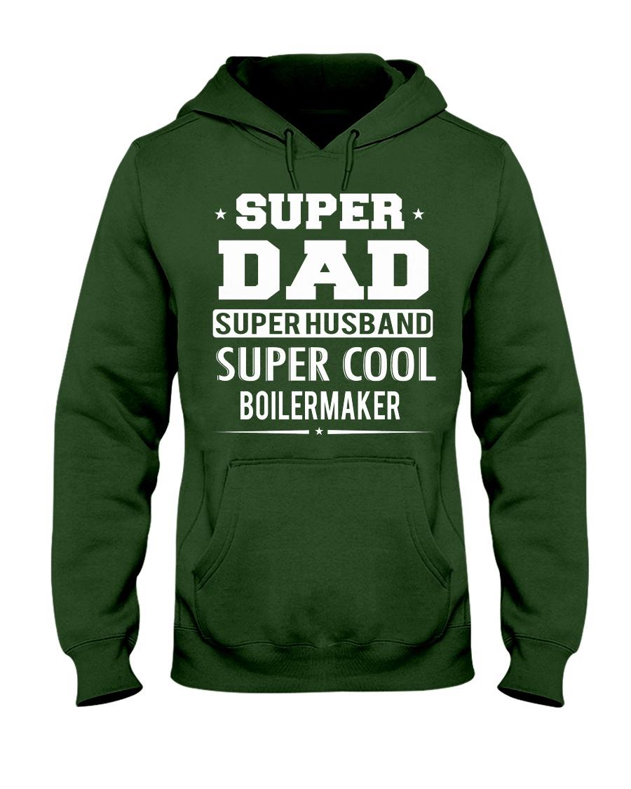 Super Dad Super Husband Super Cool Boilermaker Hooded Sweatshirt