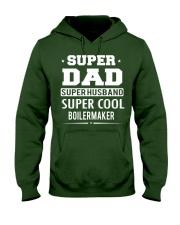 Super Dad Super Husband Super Cool Boilermaker Hooded Sweatshirt front