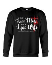 Line mom Line wife Crewneck Sweatshirt thumbnail