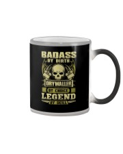 Badass By Birth Drywaller By Choice Legend  Color Changing Mug thumbnail
