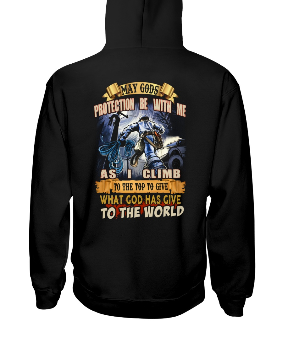 May gods protection be with me as i climb Hooded Sweatshirt