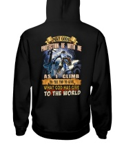 May gods protection be with me as i climb Hooded Sweatshirt back