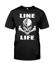 Lineman Life Skull Classic T-Shirt thumbnail