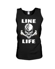 Lineman Life Skull Unisex Tank thumbnail