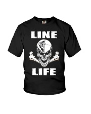 Lineman Life Skull Youth T-Shirt thumbnail